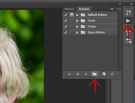 how to create an action in photoshop cc
