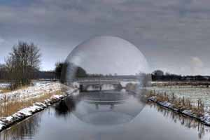 Surreal photography - Sphere in Audebo channel